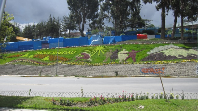 Bolivia is so committed to being modern that the word has been etched all over the city