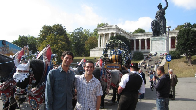 Brij and I in front of Bavarian statue