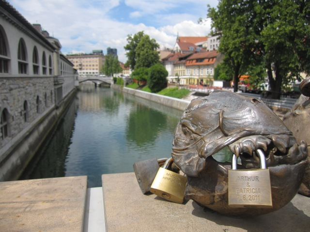A look over the Ljubljana River